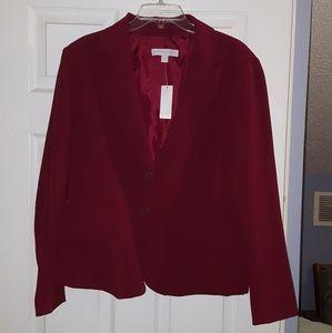 NY&Co Burgundy Blazer, Size 18